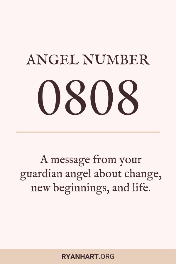 Image of Angel Number 0808