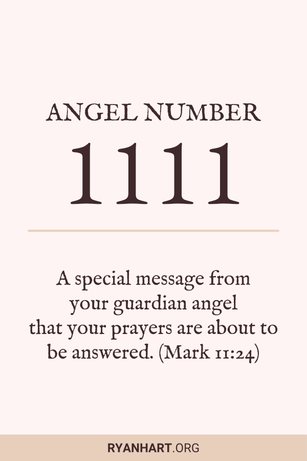Image of Angel Number 1111