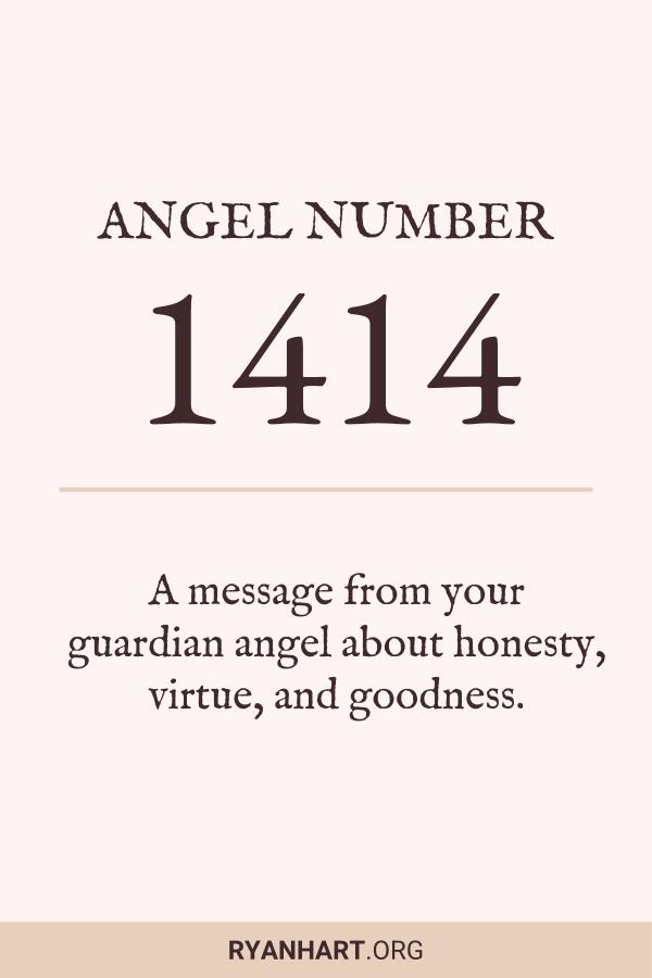 Image of Angel Number 1414