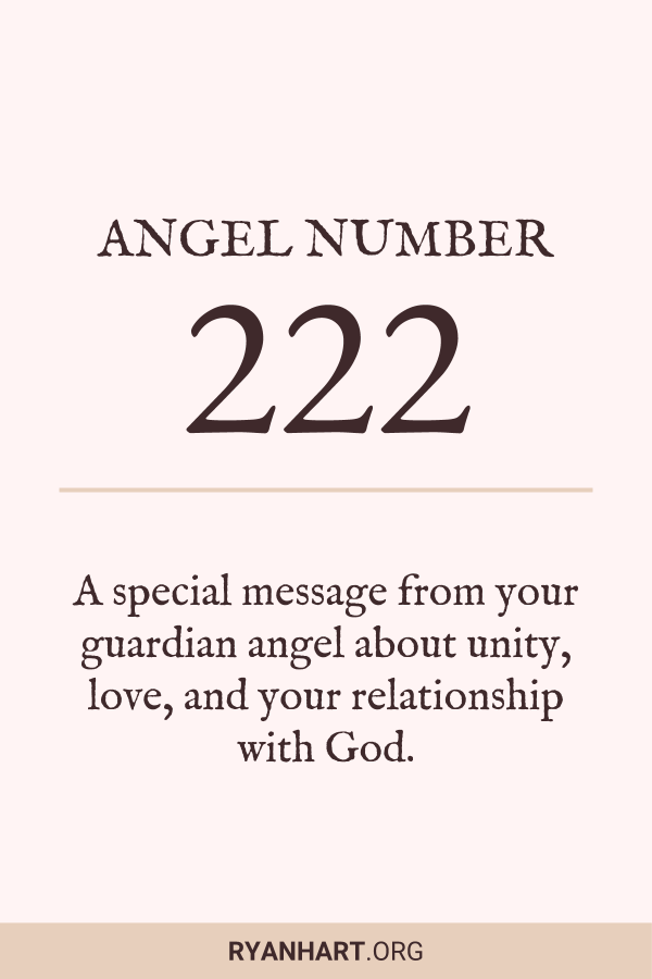 3 Spiritual Meanings of Angel Number 222 | Ryan Hart