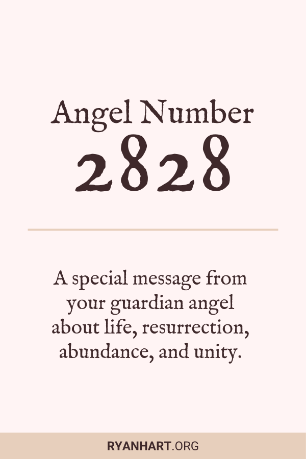 Image of Angel Number 2828