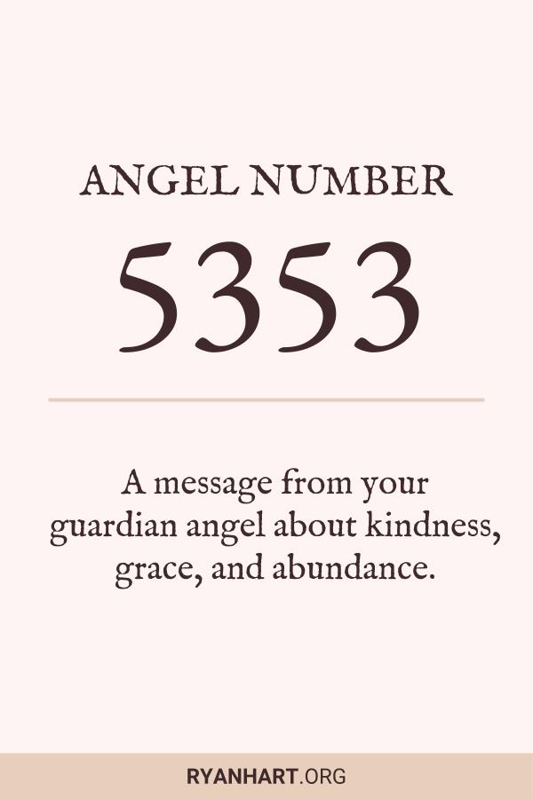 Image of Angel Number 5353