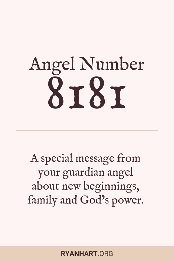 Image of Angel Number 8181