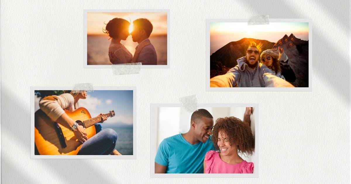 Couples photo collage