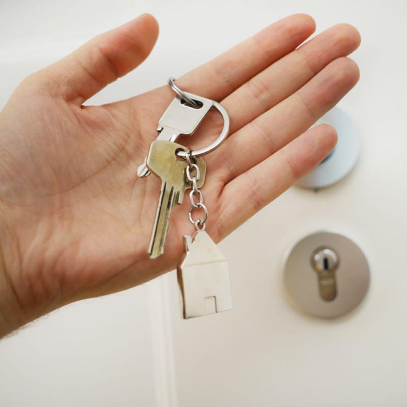 Keys to front door
