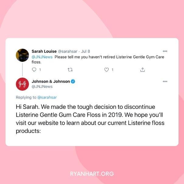 Listerine Gentle Gum Care Discontinued Announcement