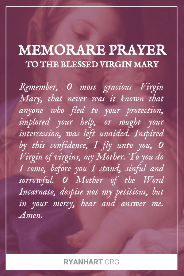 Memorare Prayer to the Blessed Virgin Mary