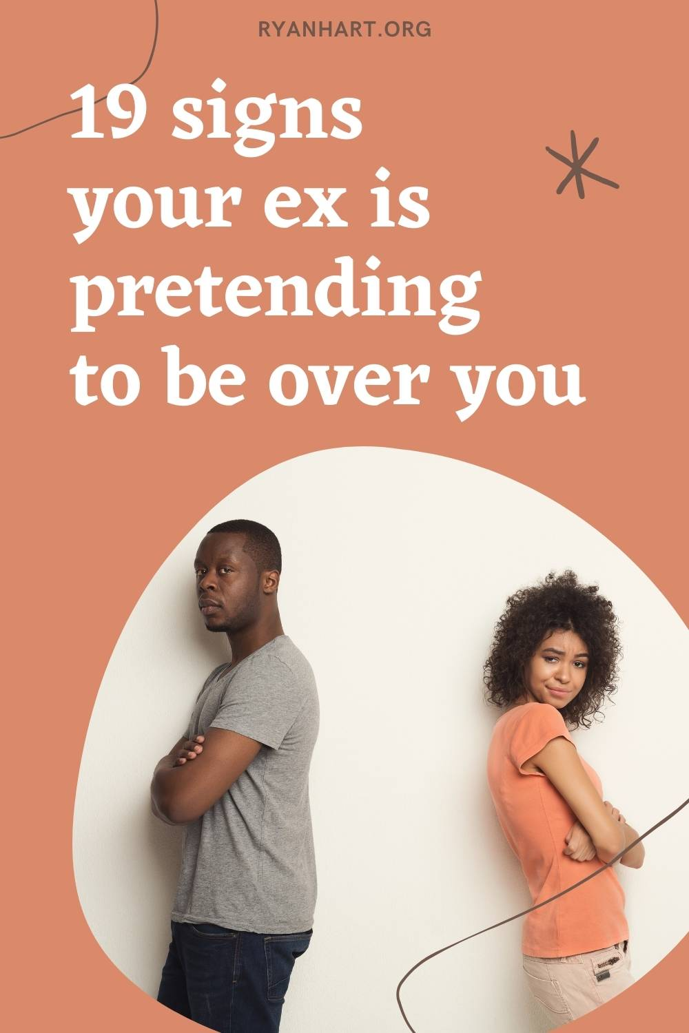 Signs ex is pretending to be over you
