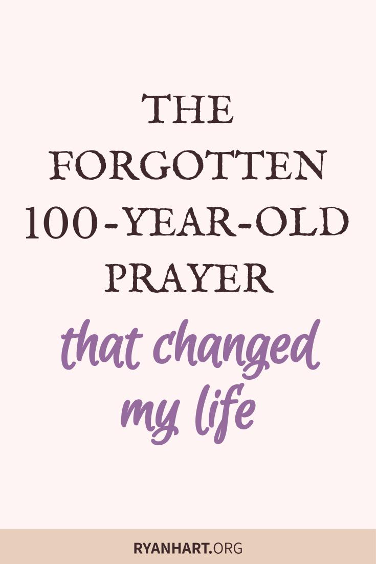 The Forgotten Prayer
