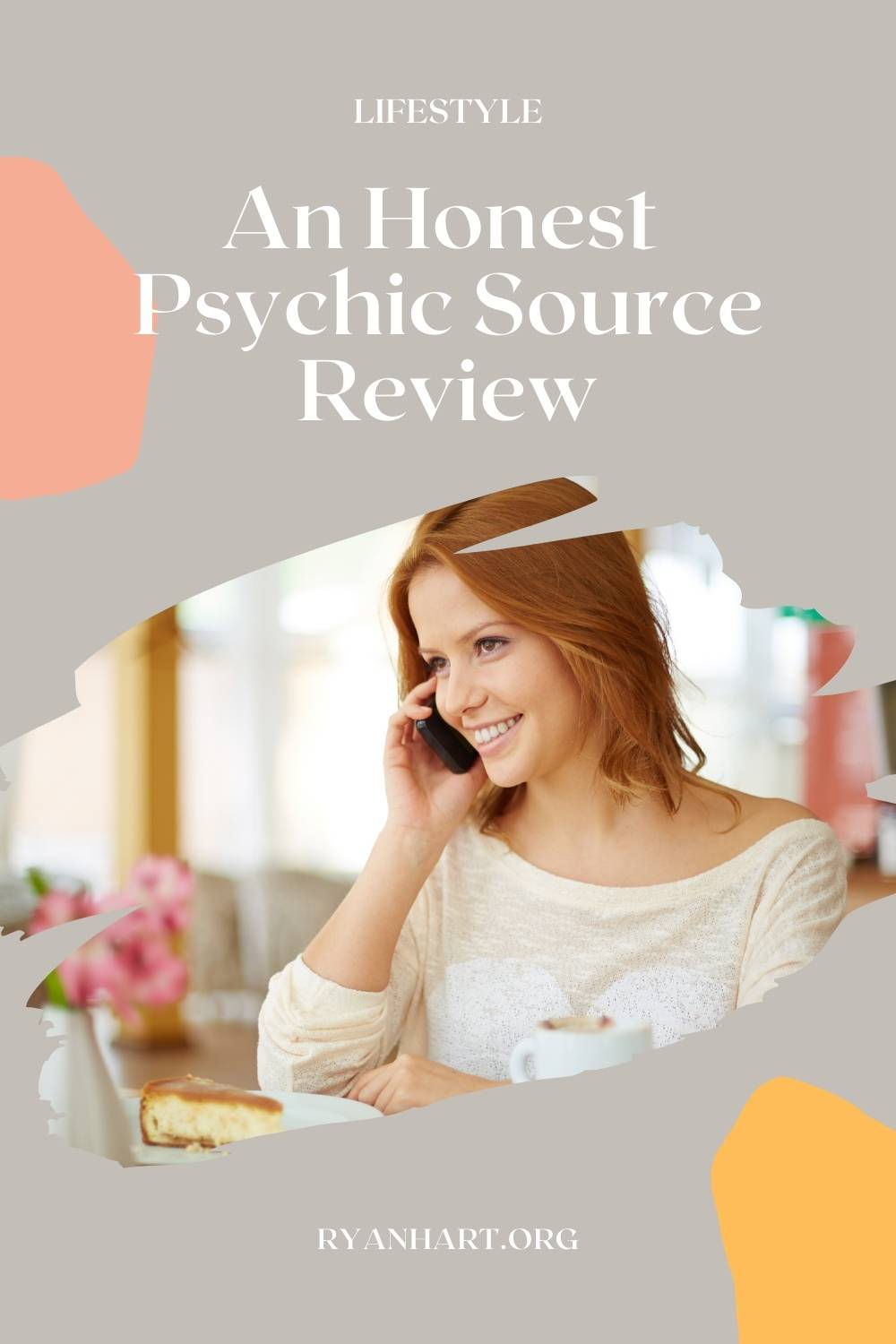 Woman calling a psychic