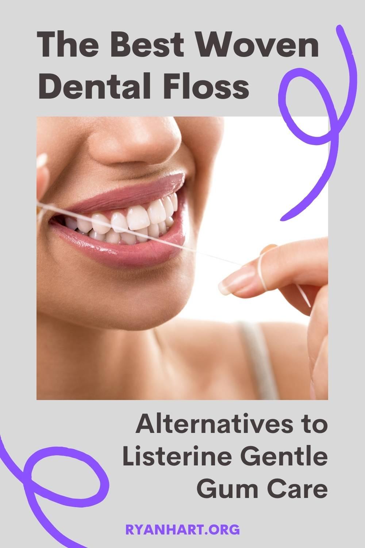 Woven dental floss