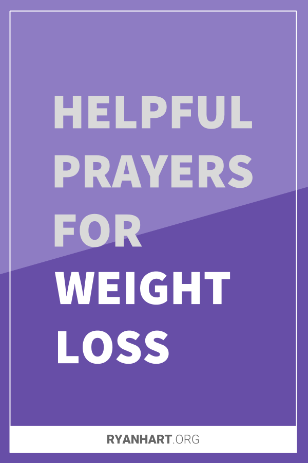 Prayers for Weight Loss