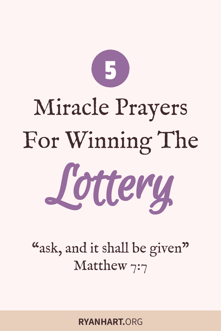 5 Miracle Prayers for Winning the Lottery Jackpot | Ryan Hart