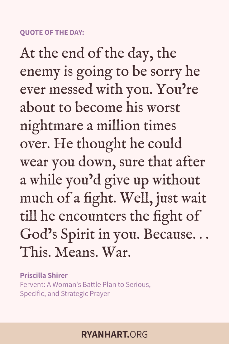 At the end of the day, the enemy is going to be sorry he ever messed with you. Well, just wait till he encounters the fight of God's Spirit in you.